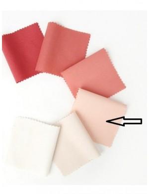 Ткань 100 % хлопок, Однотонная лососевая светлая, ширина 110 см, плотность 155 г/м2, производитель Корея