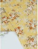 Ткань 100 % хлопок, Розы на горчичном фоне, ширина 150 см, плотность 120 г/м2, производитель Корея