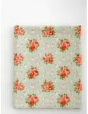 Ткань 100 % хлопок, Розы на бледно-зеленом фоне, ширина 110 см, плотность 155 г/м2, производитель Корея