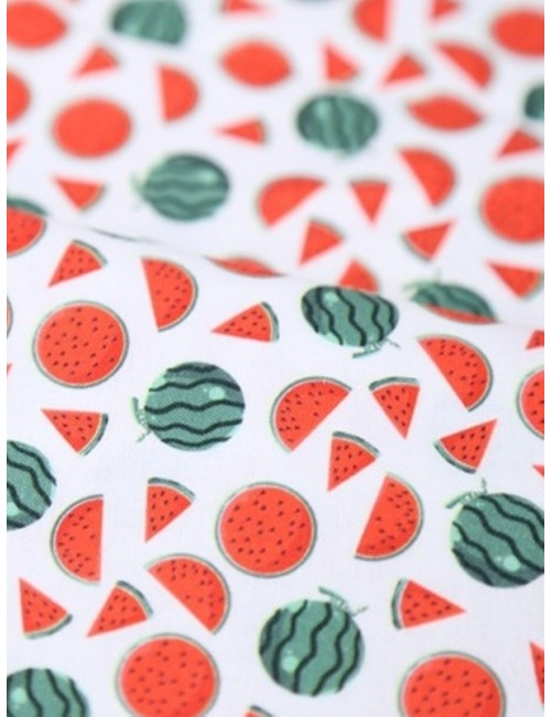 Ткань 100 % хлопок, Арбузы, ширина 110 см, плотность 155 г/м2, производитель Корея