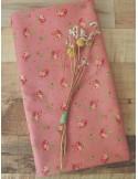Ткань 100 % хлопок, Розочки на пыльно-розовом фоне, ширина 110 см, плотность 155 г/м2, производитель Корея