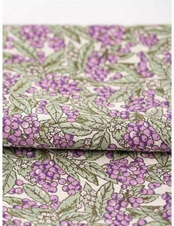Ткань 100 % хлопок, Бузина сиреневая ширина 140 см, плотность 115 г/м2, производитель Корея
