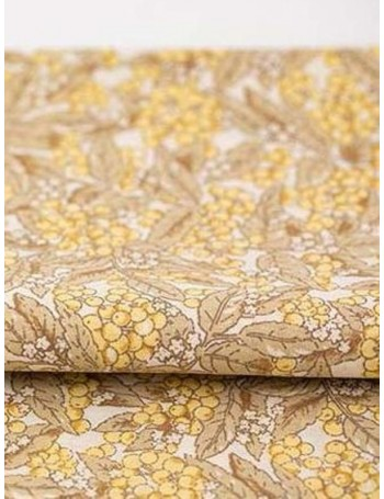 Ткань 100 % хлопок, Бузина желтая, ширина 140 см, плотность 115 г/м2, производитель Корея