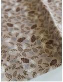 Ткань 100 % хлопок, Шишки на бежевом фоне, ширина 110 см, плотность 155 г/м2, производитель Корея