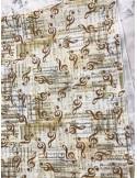 Ткань 100 % хлопок, Ноты , ширина 110 см, плотность 155 г/м2, производитель Корея