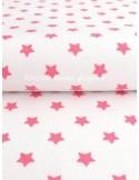 Ткань 100 % хлопок , Звезды розовые, ширина ткани 147 см, плотность 145 г/м2