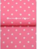 Ткань 100 % хлопок, Звезды Малиновые, ширина 147 см, плотность 145 г/м2